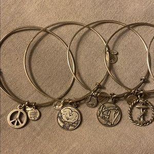 7 Alex and Ani Bracelets
